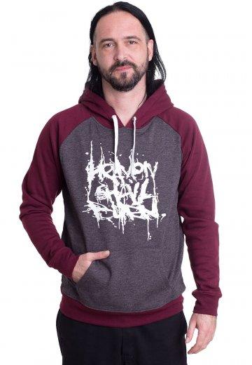 Heaven Shall Burn - Stacked Logo Charcoal/Burgundy - Hoodie
