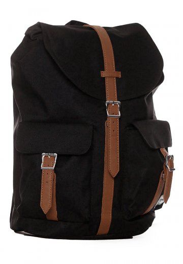 1136c57b65e Herschel - Dawson Black Tan Synthetic Leather - Backpack - Streetwear Shop  - Impericon.com UK
