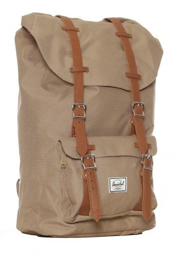 Herschel - Little America Brindle Tan Synthetic Leather - Backpack -  Streetwear Shop - Impericon.com Worldwide 0819d41085592