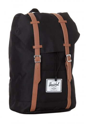 Herschel - Retreat Black Tan Synthetic Leather - Ryggsäck ... 05f996147f954