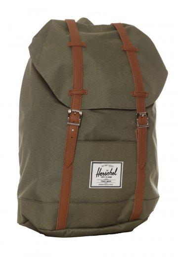 Herschel - Retreat Deep Lichen Tan Synthetic Leather - Backpack -  Streetwear Shop - Impericon.com UK cf5c12b0c7dbf