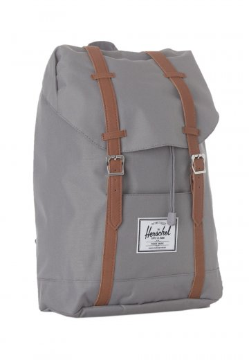 7f3152649b Herschel - Retreat Grey Tan Synthetic Leather - Backpack - Streetwear Shop  - Impericon.com Worldwide