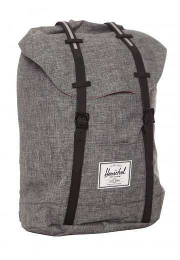 1c0fe638a261 Herschel - Retreat Raven Crosshatch Black Rubber - Backpack - Streetwear  Shop - Impericon.com UK