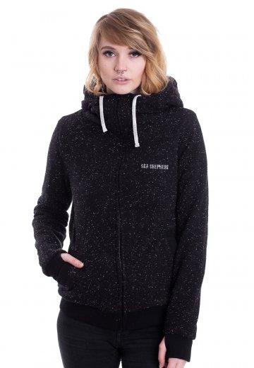 HoodLamb x Sea Shepherd - Furry Black Fleck - Zipper