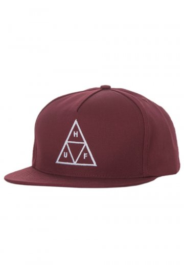 HUF - Triple Triangle Poly Cotton Twill Wine - Cap