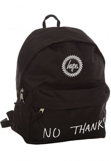 08f60fb01003 HYPE. - No Thanks Black White - Backpack - Streetwear Shop - Impericon.com  Worldwide
