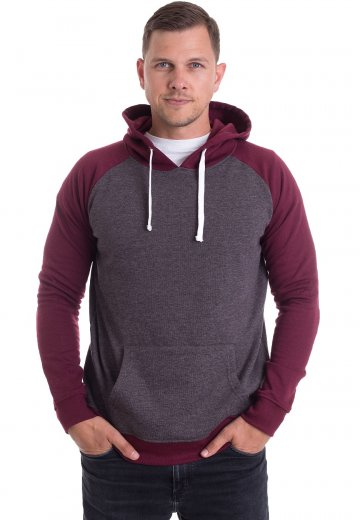 Impericon - Plain Charcoal/Burgundy - Hoodie