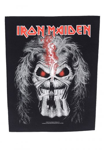 Iron Maiden Eddie Finger Backpatch Official Hard And Heavy