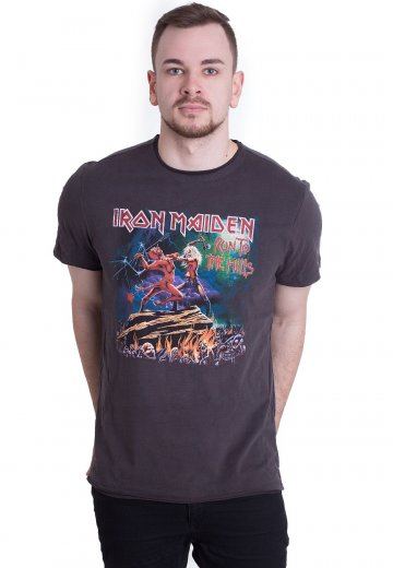 75cf7853679 Iron Maiden - Run To The Hills Charcoal - T-Shirt - Official True Metal  Merchandise Shop - Impericon.com UK