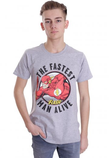 Justice League - Flash Fastest Man Alive Sportsgrey - T-Shirt