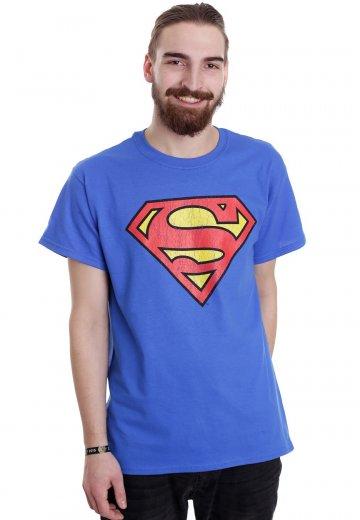 Justice League Superman Logo Blue T Shirt Impericon Au