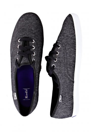 Keds - Champion Jersey Charcoal - Girl Shoes - Impericon.com Worldwide 4081db230a6