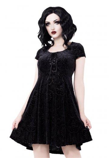28692aff39f99c Killstar - Angelyn Burnout Velvet Black - Dress - Streetwear Shop -  Impericon.com AU