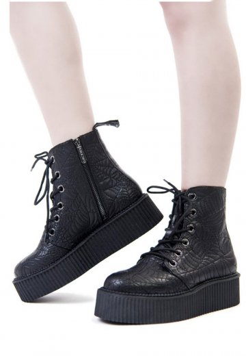 Killstar - Coffin Creeper Black - Girl Shoes