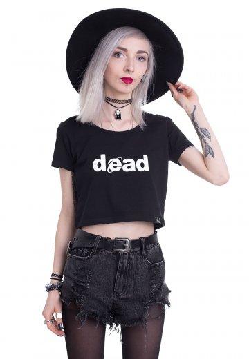 Killstar - Dead Scoop Neck Black Crop - Top