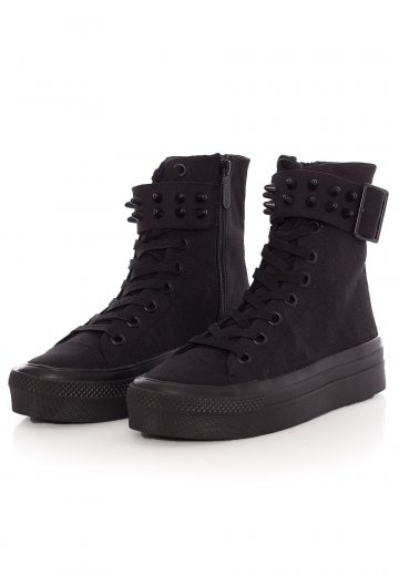Killstar - Unholy High Black - Girl Shoes