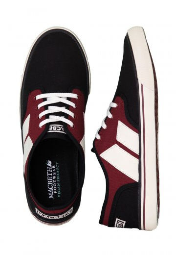 2678e2277832 Macbeth - Langley Black Oxblood Classic Canvas - Shoes - Impericon.com UK