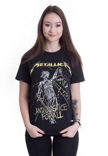 59efd601b6 Metallica - And Justice For All Tracks - T-Shirt