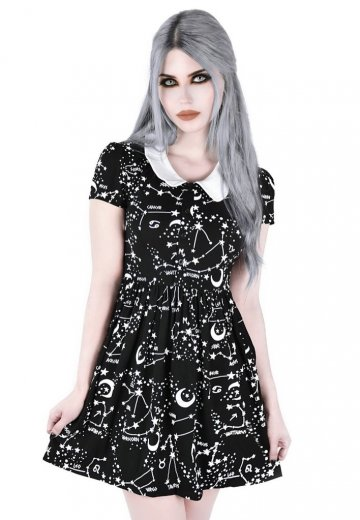 Killstar - Milky Way Babydoll Black - Dress