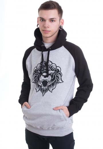 Miss May I - Lionlogo Heather Grey/Black - Hoodie