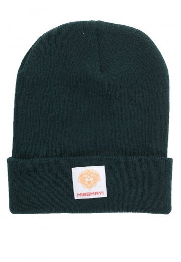 Miss May I - Lion Patch Bottle Green - Long Beanie