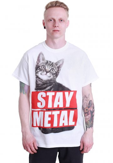 Miss May I - Stay Metal Cat White - T-Shirt
