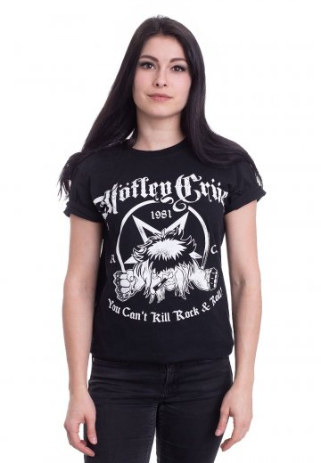 Motley Crue You Cant Kill Rock /& Roll T-Shirt Black