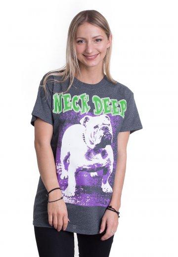 Neck Deep - Bulldog Dark Heather - T-Shirt