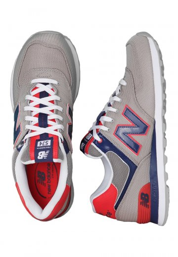 new styles a6b8d 26491 New Balance - ML574 Grey/Blue/Red - Shoes