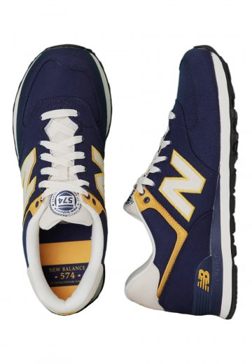 New Ml574 Sapatos Navyyellow Balance Pt L4jA35Rq