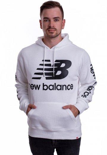 3e44908b72ea New Balance - MT83586 White - Hoodie - Streetwear Shop - Impericon.com US