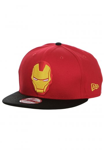 New Era - Avengers Logo Iron Man Black Red Snapback - Cap - Impericon.com  Worldwide d65e3ce2f7cb