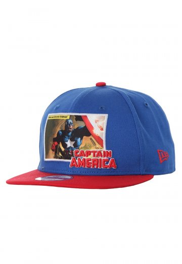 New Era - Comic Panal 2 Captain America Blue/Red Snapback - Cap - Impericon.com Worldwide