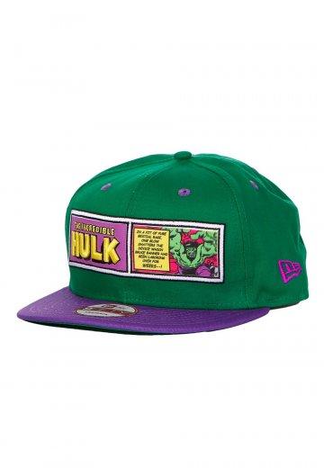 a9472aa3233 New Era - Comic Panel Hulk Green Purple Snapback - Cap - Impericon.com  Worldwide