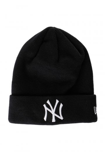 acde7958571725 New Era - Cuff Knit New York Yankees Black/White - Beanie - Streetwear Shop  - Impericon.com Worldwide