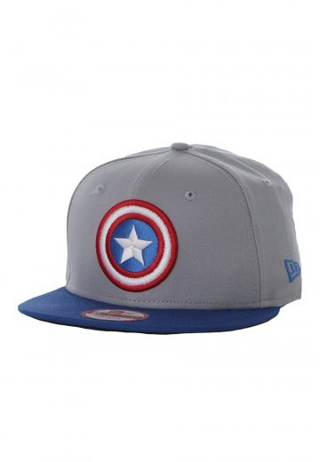 New Era - Team Hero Captain America Grey Blue Snapback - Cap -  Impericon.com Worldwide a5692ab4f6d3