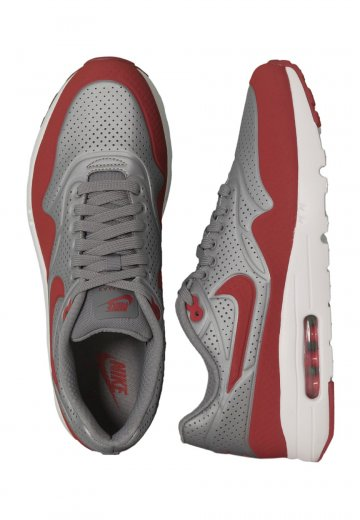cheap for discount d1eb8 2f6dc Nike - Air Max 1 Ultra Moire Metallic Grey Gym Red White - Shoes -  Impericon.com Worldwide