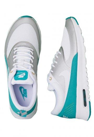 Nike Air Max Thea Metallic Silver White Turbo Green