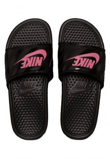 605a390ad07ca9 Nike - Benassi Just Do It Black Vivid Pink Blac - Girl Sandals -  Impericon.com UK