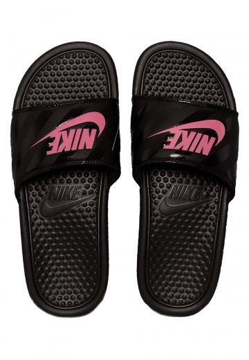 3c6bc075b4e02 Nike - Benassi Just Do It Black Vivid Pink Blac - Girl Sandals -  Impericon.com UK