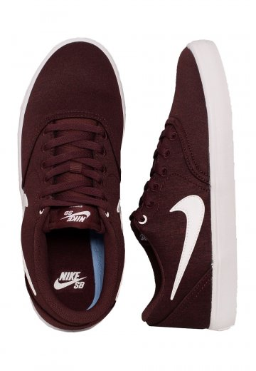 Nike SB - Check Solarsoft Canvas Premium Burgundy Crush/White/Black - Shoes