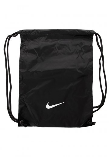 Nike - Fundamentals Swoosh Gymsack Black/Black/White - Backpack