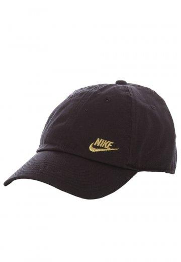 51c5251f2e4 Nike - Futura Classic Black Metallic Gold - Cap - Streetwear Shop -  Impericon.com US