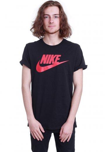 1e86c5208b24 Nike - Futura Icon Black Black University Red - T-Shirt - Streetwear Shop -  Impericon.com UK