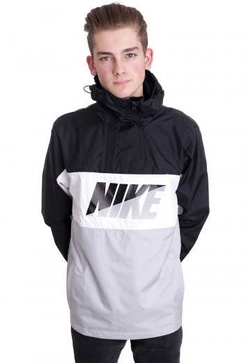 details for new high quality promo code Nike - Half-Zip Black/White/Wolf Grey - Windbreaker