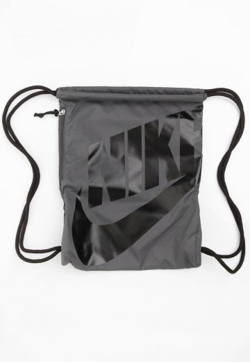 buy online 8bc36 b0e5c Nike - Heritage Gymsack Dark GreyBlack Black - Backpack - Streetwear Shop -  Impericon.com US