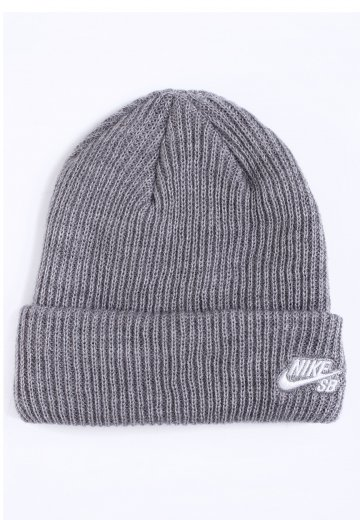 4e0b9d8d5d49d2 Nike - SB Fisherman Dark Grey Heather/White - Beanie - Streetwear ...