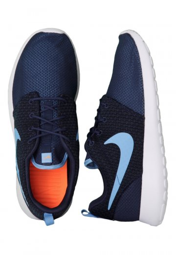 96e56d317d10 Nike - Roshe Run Midnight Navy University Blue Total Orange White - Shoes -  Impericon.com Worldwide