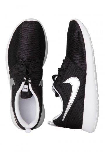 7e30108251e2 Nike - Roshe Run GS Black Metallic Silver White - Girl Shoes -  Impericon.com UK