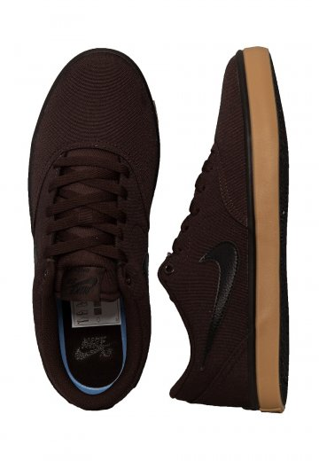 Nike - SB Check Solarsoft Canvas Velvet Brown/Black Gum/Yellow - Shoes